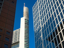 Business buildings  in the financial district of Frankfurt, Germ Stock Photo
