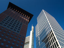 Business buildings  in the financial district of Frankfurt, Germ Royalty Free Stock Photos