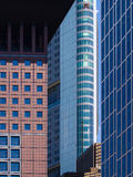 Business buildings in the financial district of Frankfurt, Germ Royalty Free Stock Photo