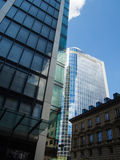 Business buildings in the financial district of Frankfurt, Germany Royalty Free Stock Photos