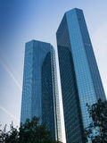 Business buildings in the financial district of Frankfurt, Germany Stock Photo