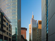 Business buildings in the financial district of Frankfurt Royalty Free Stock Photos