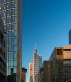 Business buildings in the financial district of Frankfurt Stock Image