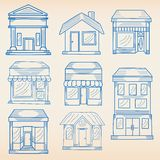 Business Buildings Icon Set Royalty Free Stock Images