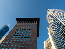 Business buildings ( Japan-Center and Taunus Tower )   in the fi Stock Photos