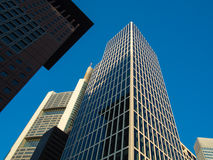 Business buildings in the financial district of Fr Stock Photos