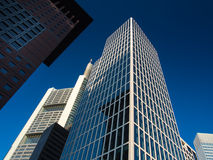Business buildings in the financial district of Fr Stock Photo