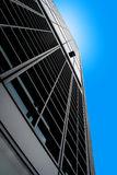 Business buildings. Modern buildings in the Milan Italy on a blue background Royalty Free Stock Photo