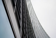 Business buildings. Modern buildings in the Milan Italy on a grey background Royalty Free Stock Photography