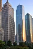 Business buildings in morning light, Shanghai Stock Images