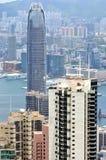 Business buildings near Victoria harbor, Hongkong Stock Image