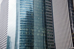 Business buildings. In office park showing facade of tall skyscrapers Stock Images
