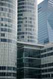 Business buildings in office park. Showing facade of tall skyscrapers royalty free stock photo