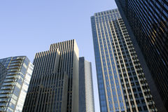 Business buildings, offices. Business buildings scattering in downtown Seattle Stock Photos