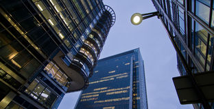 Business buildings offices. Night scene Royalty Free Stock Photo