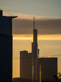 Business buildings at sunrise in Frankfurt, Germany Stock Photography