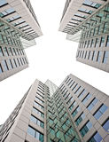 Business buildings on white Royalty Free Stock Image