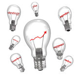 Business Bulbs Royalty Free Stock Images