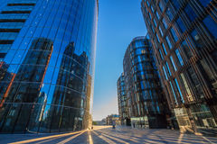 Business bulding in the evening (business center) Royalty Free Stock Images