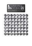 Business bulk icon pack. Of 56 icons vector illustration