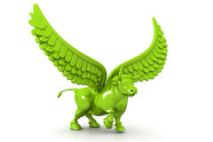 Business bull with wings. 3d illustration of Business bull with wings Stock Photography