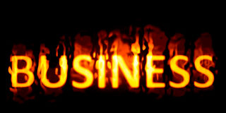 Business burning Stock Photography