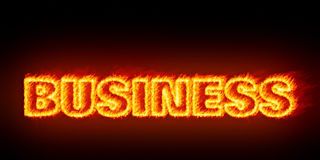 Business burning Stock Images