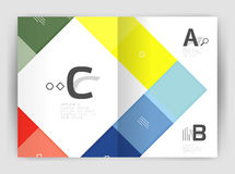 Business a4 business brochure geometrical template. Vector design for workflow layout, diagram, number options or web design vector illustration