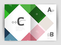 Business a4 business brochure geometrical template. Vector design for workflow layout, diagram, number options or web design stock illustration