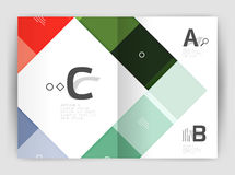 Business a4 business brochure geometrical template. Vector design for workflow layout, diagram, number options or web design royalty free illustration