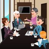 business businessman cmputer desk laptop meeting smiling talking to using woman Εργαζόμενοι γραφείων με τα lap-top, ταμπλέτες Στοκ Εικόνες