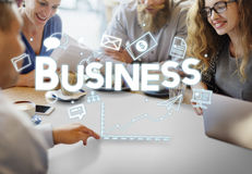 Business Businessman Money Growth Concept Stock Photography