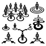 Business Businessman Workforce Team Pictogram Royalty Free Stock Photos