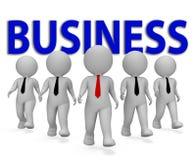 Business Businessmen Shows Commerce Entrepreneurs et rendu de Corporation 3d illustration stock