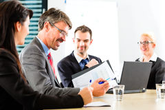 Business - businesspeople have team meeting Royalty Free Stock Photos
