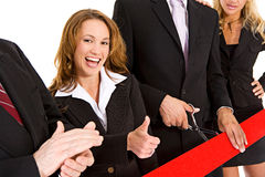 Business: Businesswoman Gives Thumbs Up Royalty Free Stock Photography