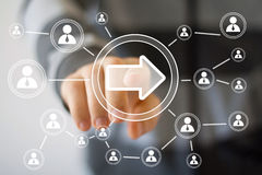 Business button arrow connection web communication icon Royalty Free Stock Photo
