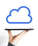 Business button cloud icon web sign. Business button cloud icon web Royalty Free Stock Images