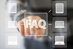Business button FAQ web sign icon computer Royalty Free Stock Photo
