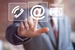 Business button messaging web mail sending icon Stock Photography