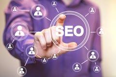 Business button SEO communication web icon Stock Photos