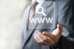 Business button web www icon search sign Stock Images