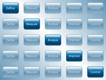 Business Buttons. Illustration of buttons used for process improvement stock illustration