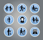 Business buttons Stock Images
