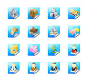 Business buttons with web icons Royalty Free Stock Images