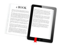 Business c-Book Paper on tablet. Mobile device concepts 3D.  on White Background Stock Images