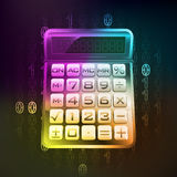 Business calculation in binary internet modern space vector Stock Photography