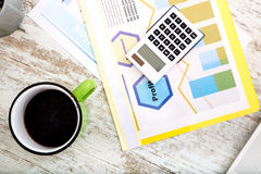 Business calculation in the office Royalty Free Stock Image