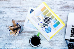 Business calculation in the office Stock Images