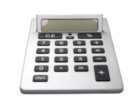 Business Calculator. With Large Buttons - Focus On Display, White Background royalty free stock image